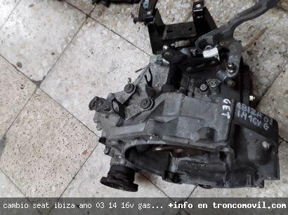 CAMBIO SEAT IBIZA , AÑO 03, 1.4 16V ,GASOLINA, REF GET DE SEGUNDA MANO