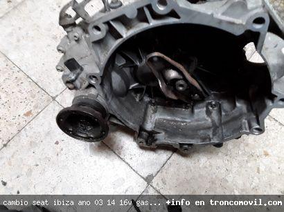 CAMBIO SEAT IBIZA , AÑO 03, 1.4 16V ,GASOLINA, REF GET DE SEGUNDA MANO - foto 2