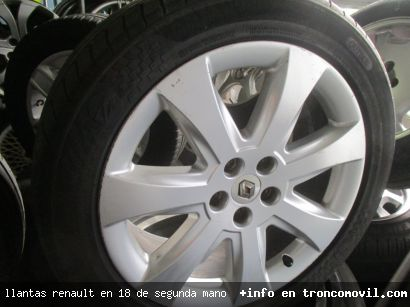 LLANTAS RENAULT EN 18 DE SEGUNDA MANO - foto 1