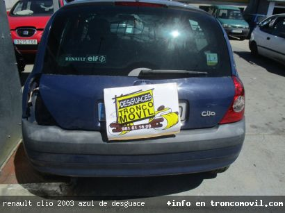 RENAULT CLIO 2003 AZUL DE DESGUACE - foto 1